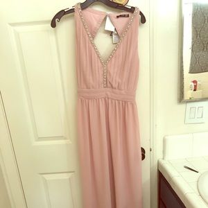 TFNC London blush pink maxi dress
